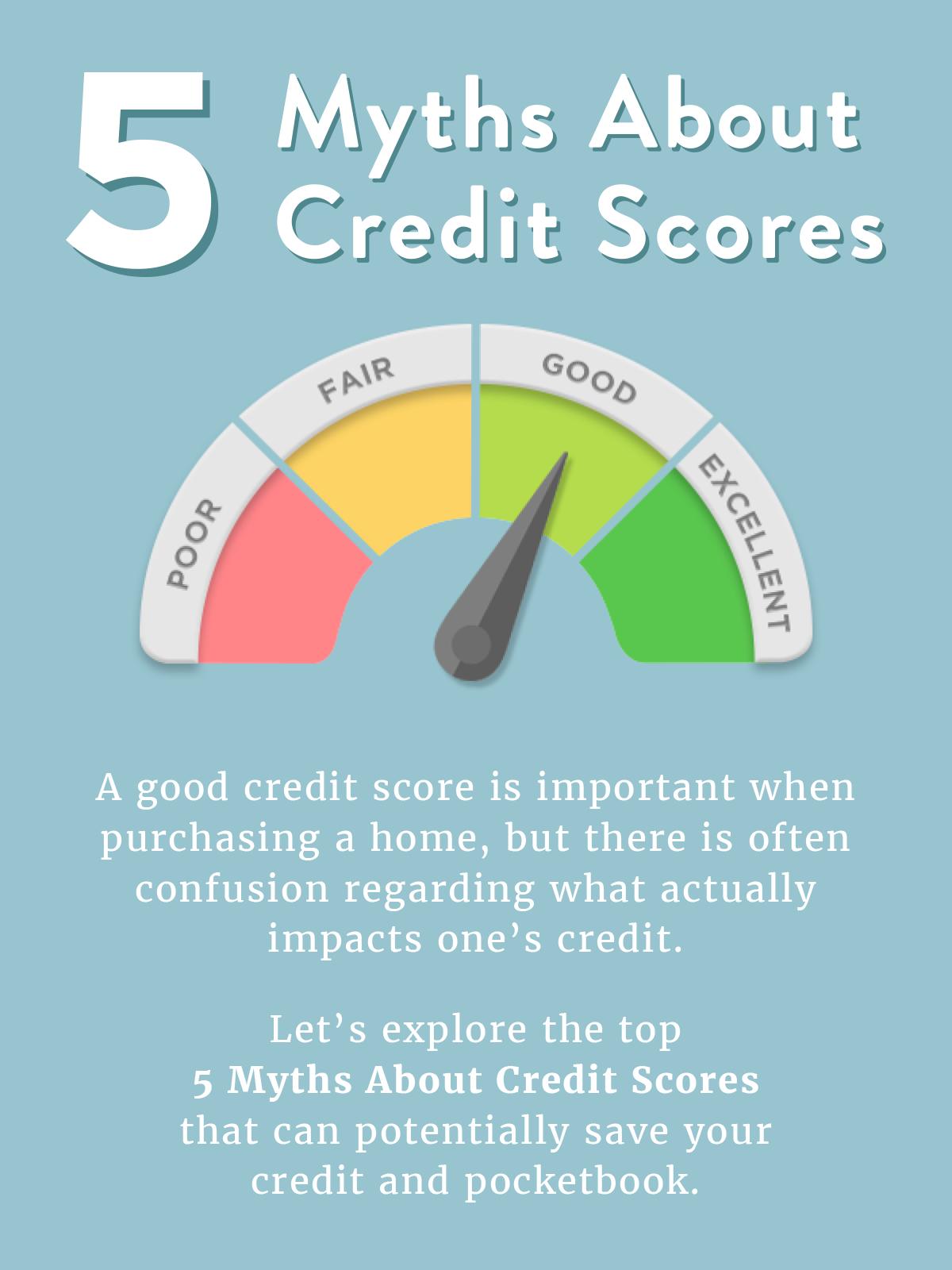 5 Myths about Credit Scores